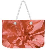 Peachy Pink Jasper Rose Weekender Tote Bag
