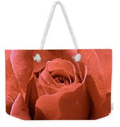 Peachy Rose Weekender Tote Bag