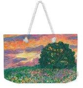 Peachy Sunset Weekender Tote Bag