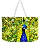 Peacock Abstract Realism Weekender Tote Bag
