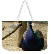 Peacock At The Fence Weekender Tote Bag