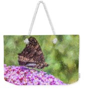 Peacock Butterfly Inachis Io On Buddleja Weekender Tote Bag