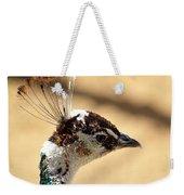 Peacock Crest Weekender Tote Bag