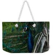 Peacock Dance Weekender Tote Bag