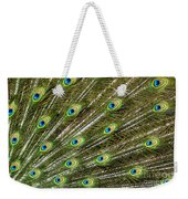 Peacock Feather Abstract Pattern Weekender Tote Bag