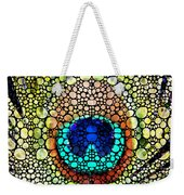 Peacock Feather - Stone Rock'd Art By Sharon Cummings Weekender Tote Bag