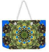 Peacock Feathers Kaleidoscope 9 Weekender Tote Bag
