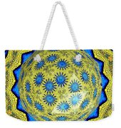 Peacock Feathers Under Polyhedron Glass 3 Weekender Tote Bag