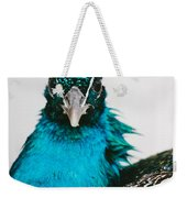 Peacock Front View Weekender Tote Bag