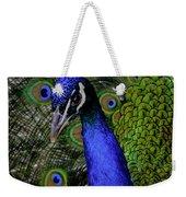 Peacock Head And Tail Weekender Tote Bag