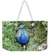 Peacock In The Brush Weekender Tote Bag
