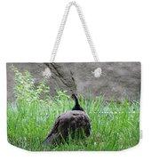 Peacock In The Grass Weekender Tote Bag