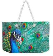 Peacock Love Weekender Tote Bag