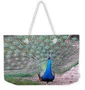 Peacock On Display Weekender Tote Bag