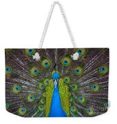 Peacock Portrait Weekender Tote Bag