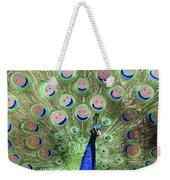 Peacock Smiles Weekender Tote Bag