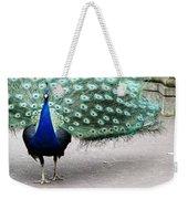 Peacock Strut Weekender Tote Bag