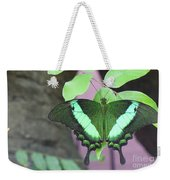 Peacock Swallowtail Weekender Tote Bag