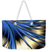 Peacock Tail Feather Weekender Tote Bag