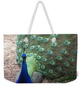 Peacock Up Close Weekender Tote Bag
