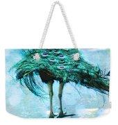 Peacock Walking Away Weekender Tote Bag