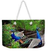 Peacocks In The Garden Weekender Tote Bag