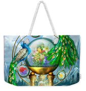 Peacocks Lagoon Weekender Tote Bag