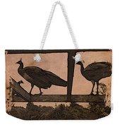 Peahens Weekender Tote Bag