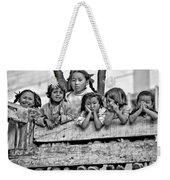 Peanut Gallery Monochrome Weekender Tote Bag