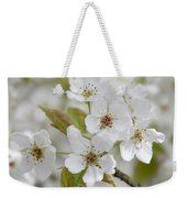 Pear Tree White Flower Blossoms Weekender Tote Bag