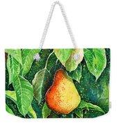 Pear Weekender Tote Bag by Zaira Dzhaubaeva