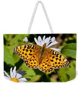 Pearl Border Fritillary Butterfly On An Aster Bloom Weekender Tote Bag