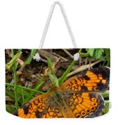 Pearl Crescent Butterfly Weekender Tote Bag