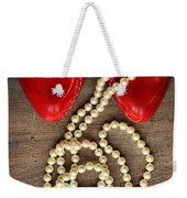 Pearls In Red Shoes Weekender Tote Bag