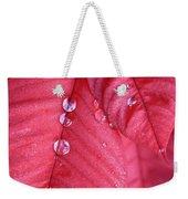 Pearls On Poinsettia Weekender Tote Bag