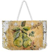 Pears And Dragonfly On Vintage Tin Weekender Tote Bag