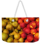 Pears And Peaches. Fresh Market Series Weekender Tote Bag