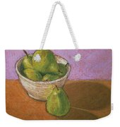 Pears In Bowl Weekender Tote Bag