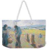 Peasants In The Fields Weekender Tote Bag by Camille Pissarro