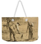 Peasants Planting Potatoes  Weekender Tote Bag
