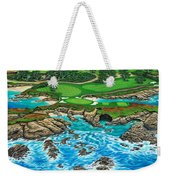 Pebble Beach 15th Hole-north Weekender Tote Bag