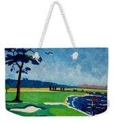 Pebble Beach 18 California Weekender Tote Bag by Lesley Giles