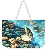 Pebble Beach And Shells Weekender Tote Bag