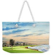 Pebble Beach Golf Course 18th Hole Weekender Tote Bag
