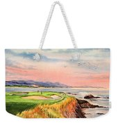 Pebble Beach Golf Course Hole 7 Weekender Tote Bag by Bill Holkham