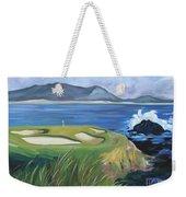 Pebble Beach Scene Weekender Tote Bag