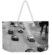 Pebble Beach California Sports Car Races Auto Road Race April 11 1954 Weekender Tote Bag