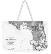 Pebble Beach To  Carmel Mission Carmel River 1876 Weekender Tote Bag