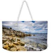 Pebbled Beach Under Dramatic Skies Number Two Weekender Tote Bag