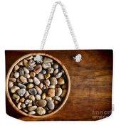 Pebbles In Wood Bowl Weekender Tote Bag